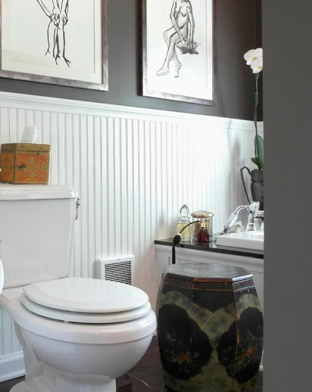 Bathroom wainscoting panels